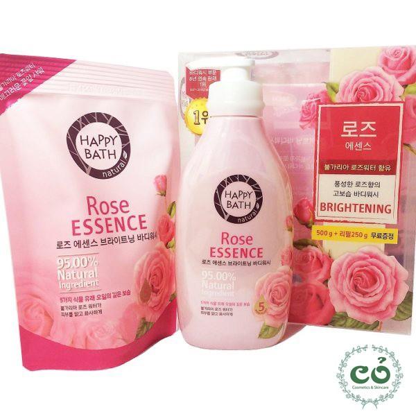 Sữa tắm hoa hồng Happy Bath Rose Essence