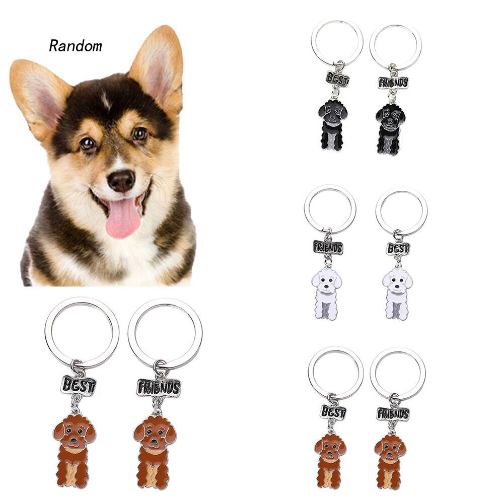 [RA]2Pcs Best Friends Dog Cat Collar Name Tag Engraving ID Address Ring Pendant Gift