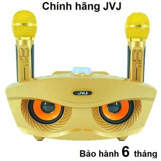 Loa bluetooth karaoke 2 mic SD306/SD-306 Plus JVJ Không dây, mắt mèo, kèm 2 mic công suất lớn 20W - Bảo hành 06T