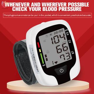 ET Wrist Blood Pressure Monitor Digital LCD Screen Electronic Sphygmomanometer Home Automatic Intelligent Wrist Cuff Sphygmomanometer Blood Pressure Meter