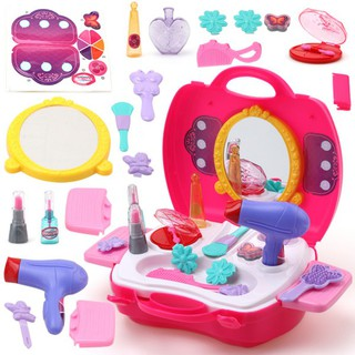 Baby Girls Make Up Pretend Play Toy Cosmetics Case Educational Toy Gift