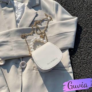 Túi đeo chéo mini phong cách Hàn Quốc GT51 Túi xách nữ phối chuỗi ngọc châu cao cấp
