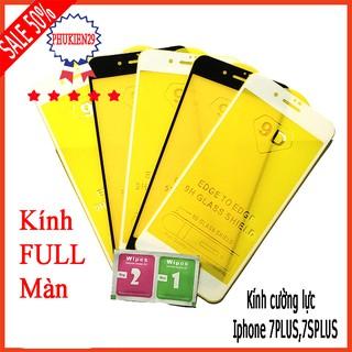 Kính cường lực Iphone 7 plus,7S Plus full màn hình, Ảnh thực shop tự chụp, tặng kèm bộ giấy lau kính taiyoshop2 thumbnail
