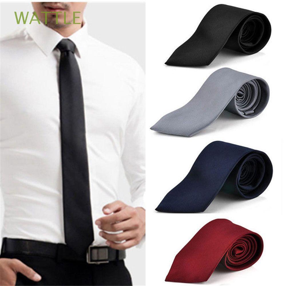Slim Solid Plain Solid Neck Necktie