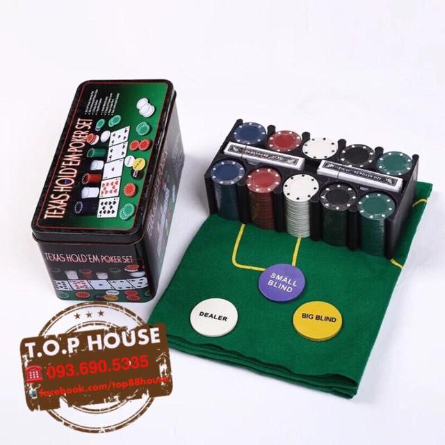 🃏Set chip chơi bài Poker full box