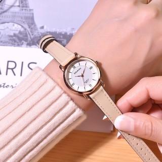 Đồng hồ nữ Doukou chính hãng dây da mặt kính phản quang sáng nhiều màu mẫu mới hot thumbnail