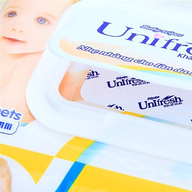 [Mã 267FMCGSALE giảm 8% đơn 500K] (KHÔNG MÙI) Khăn ướt Unifresh Vitamin E 80 tờ