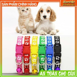 Vòng Cổ 2 Lớp Cho Chó Mèo Có Chuông Hàng Xịn thumbnail