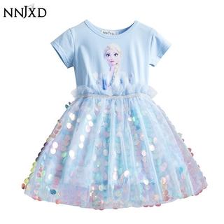 Đầm NNJXD In Hình Công Chúa Elsa Dành Cho Bé Gái
