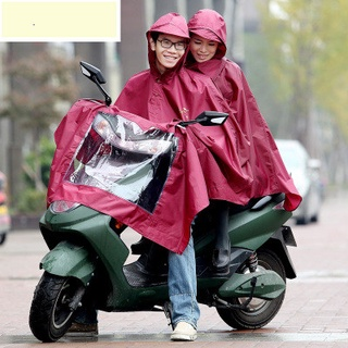 Thiên Đường chính hãng siêu lớn đôi áo mưa xe máy xe điện xe điện tăng dày