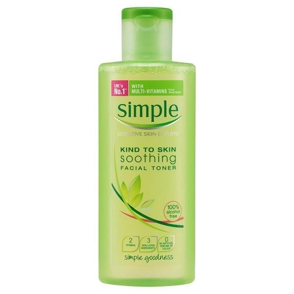 Nước Hoa Hồng Simple Kind to Skin Soothing Skin facial Toner 200ml