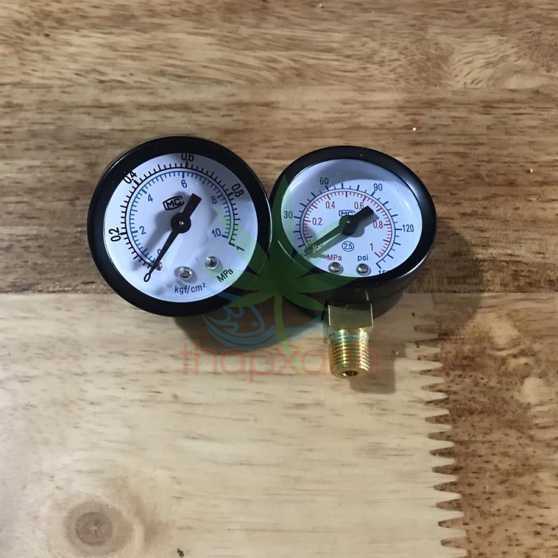 Đồng hồ đo áp suất nước, khí nén, áp kế, van đo áp suất Y40