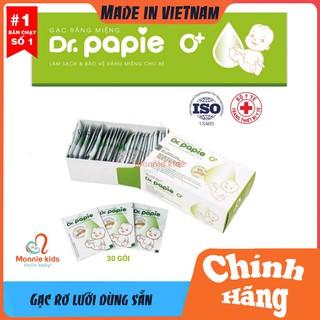 Gạc Rơ Lưỡi Dr PAPIE Kháng Khuẩn, Kháng Nấm Chống Viêm Nướu, Sâu Răng Hộp 30 Cái thumbnail
