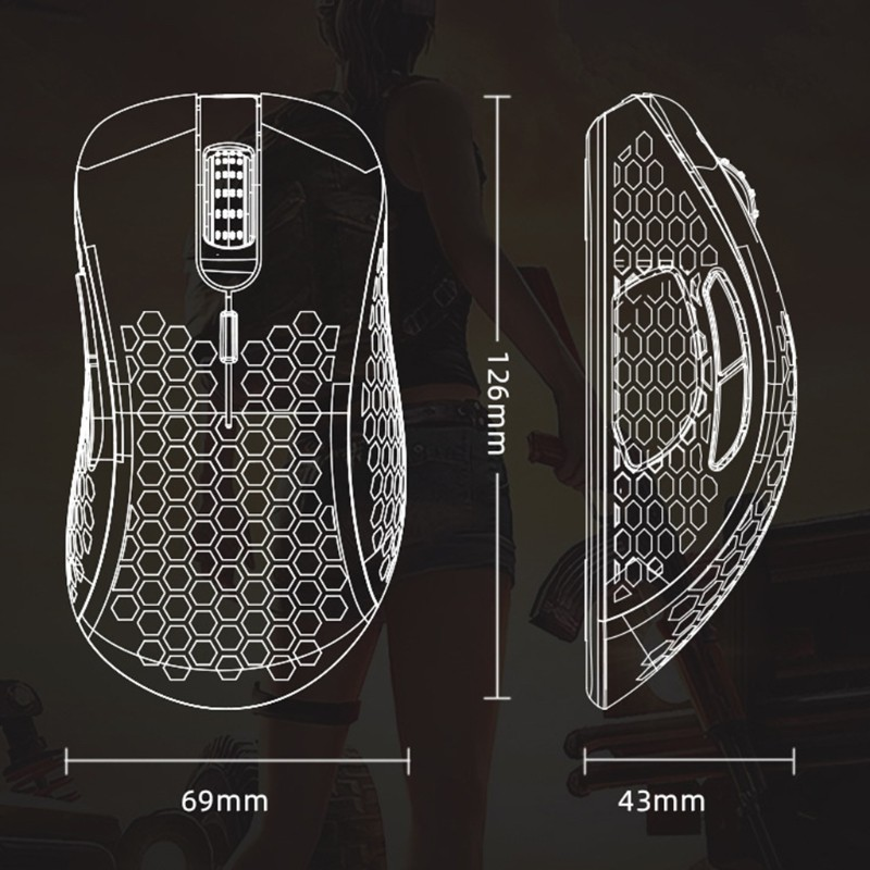 Chuột Chơi Game Rxsix Có 6 Nút Bấm Chuyên Dụng