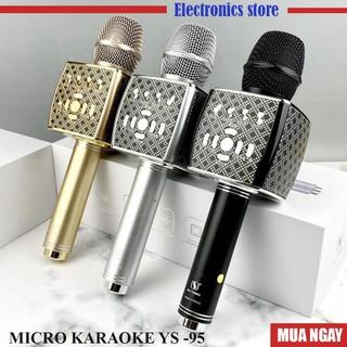 Mic Hát Karaoke Bluetooth YS95 tích hợp loa pass to hay không dây  bảo hành 6 tháng chính hãng