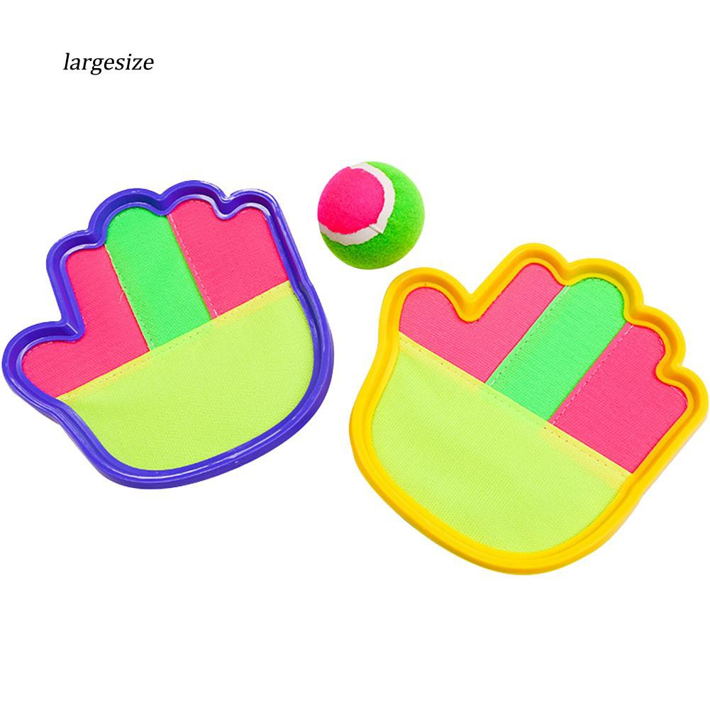 Large♥Children Outdoor Playing Interactive Catch Toy Throw Ball Sticky Racket Set