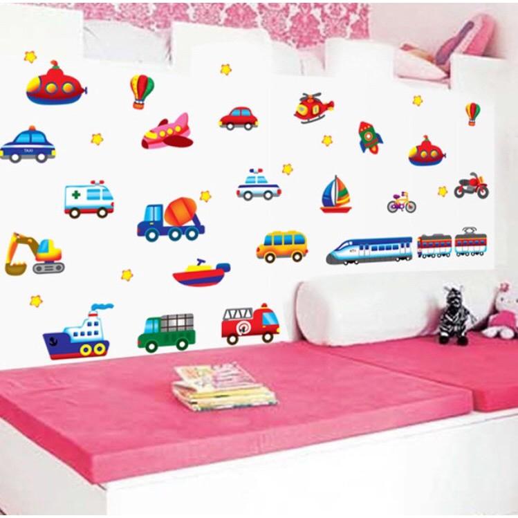 Decal dán phòng cho bé mẫu giao thông