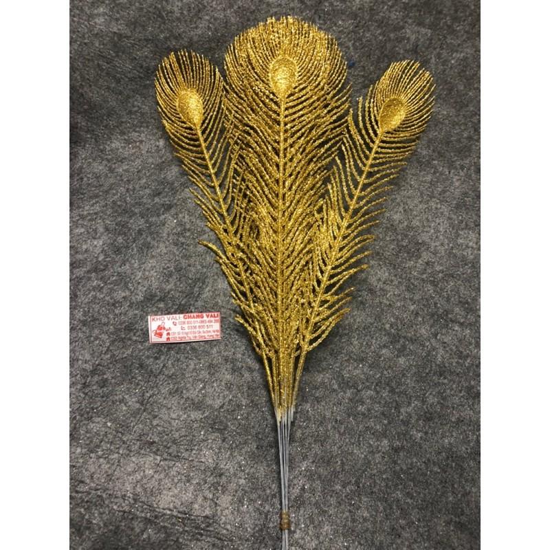 lông công dài 40cm làm oản tài lộc , giỏ quà tết