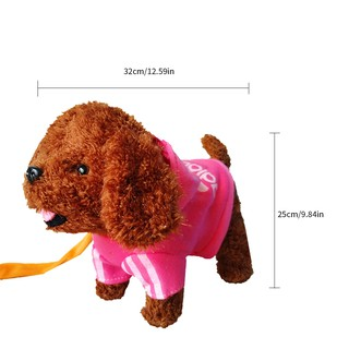 PARA*USB Straight Charging Electric Teddy Dog With Leash Walking Singing