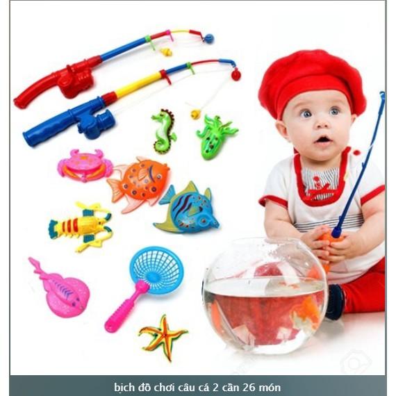 Bồ đồ chơi câu cá dành cho bé 26 món