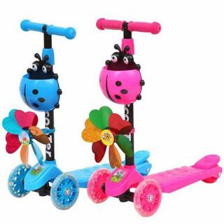 Xe scooter 3 bánh bọ rùa phát sáng dành cho trẻ em – AL