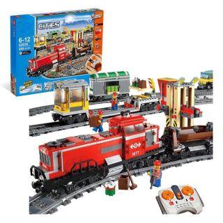 Lắp ráp lego cities 02039 – Tàu hỏa chở hàng điều khiển từ xa