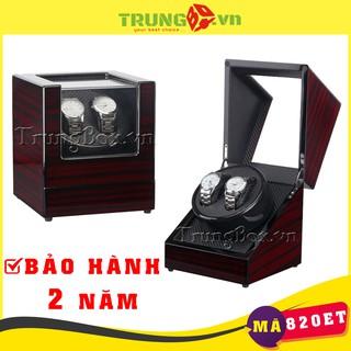 Hộp Đựng Đồng Hồ Cơ 2 Xoay Vỏ Gỗ Sơn Mài - Mã 820ET thumbnail