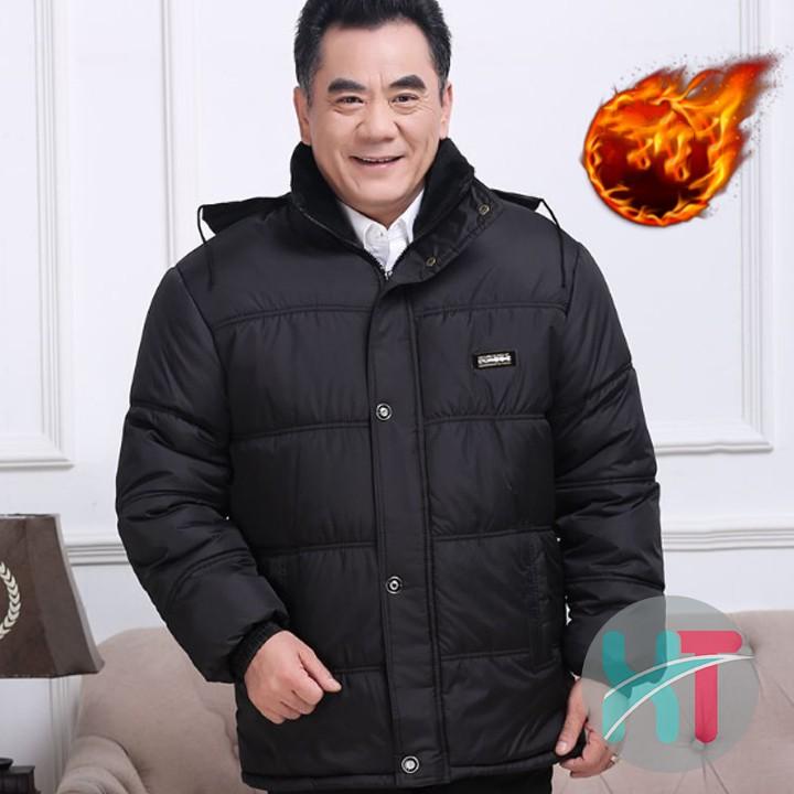 ÁO KHOÁC PHAO CAO CẤP TRUNG NIÊN CHO BỐ -Áo Khoác Phao Lót Lông Cao Cấp Trung Niên