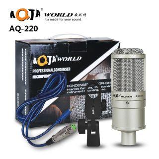 Micro Thu Âm AQTA AQ 220 - Micro Hát Karaoke - Livestream Cao Cấp Chính Hãng Bảo Hành 6 Tháng
