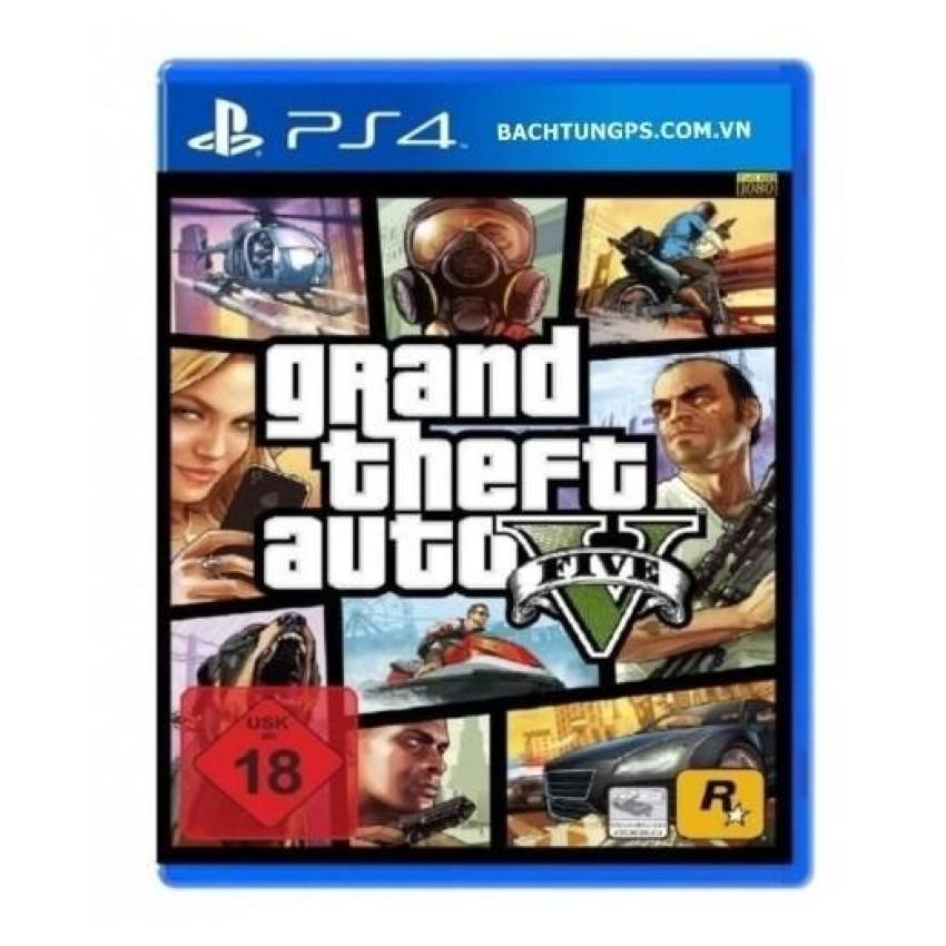 Đĩa game Grand Theft Auto V dành cho PS4