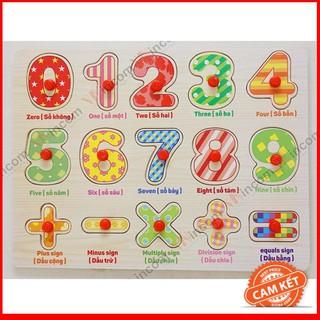 Bảng số cộng trừ nhân chia có núm cho bé – CHẤT LƯỢNG CAO