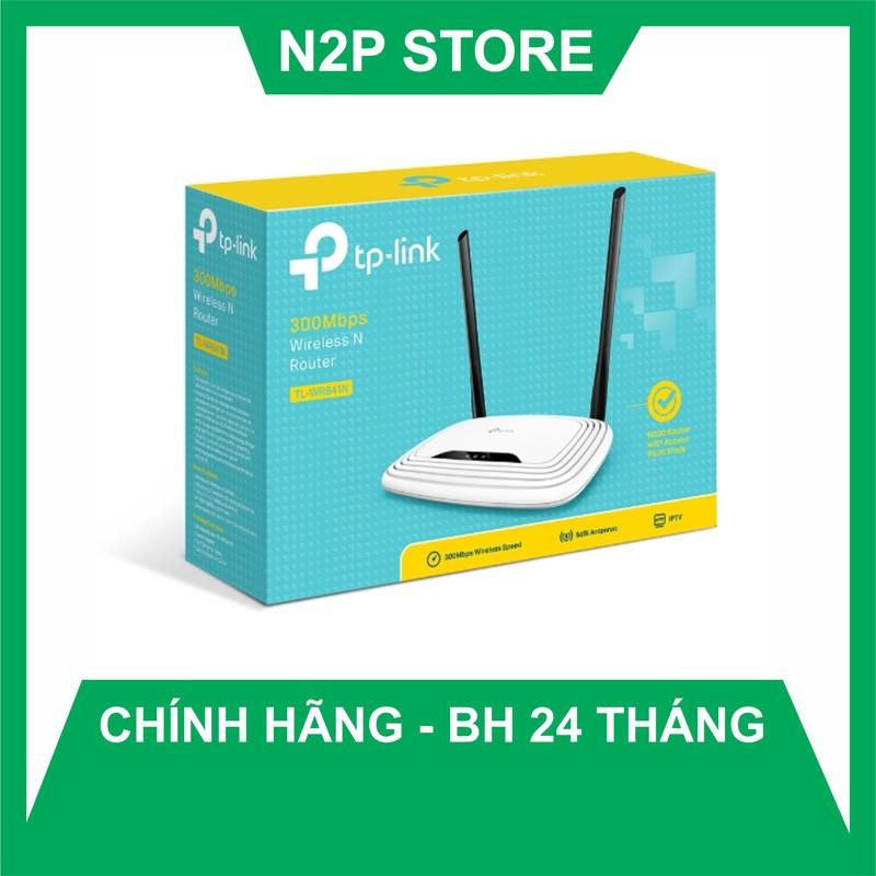 Router WiFi Tplink 841N chuẩn N tốc độ 300Mbps - 2 Anten Model: WR841N (Hãng phân phối chính thức)