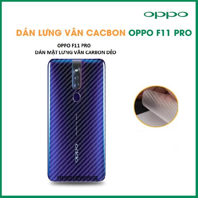 Miếng dán vân cacbon, các bon mặt lưng cho OPPO F11/f11Pro_phukienso24h