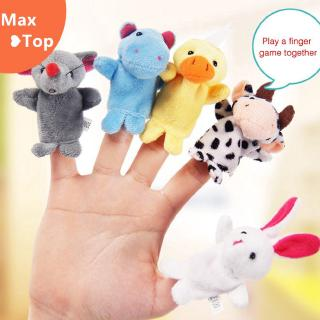 [Ready Stock] 1Pc Family Finger Puppets Baby Educational Hand Animal Doll Toy Story Kid Gift