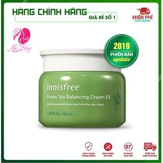 [Hàng Auth] Kem dưỡng ẩm - Kem dưỡng trắng da chống lão hóa da Innisfree Green Tea Cream EX Hàn Quốc 50ml thumbnail