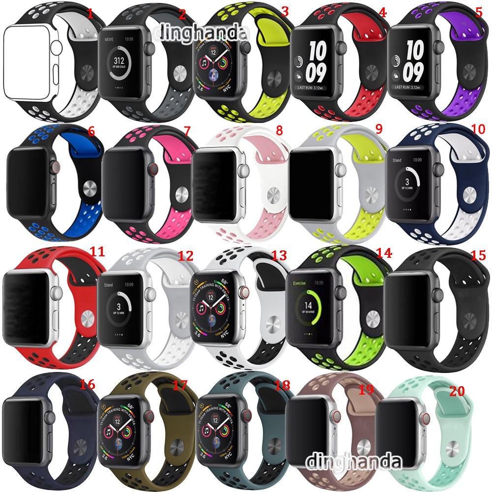 Dây đeo đồng hồ thể thao dành cho Apple Watch Series 1 2 3 4 5 42mm 44mm 40mm 38mm