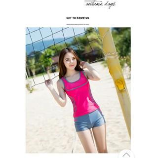Đồ bơi nữ phong cách trẻ trung – hồng mã Q8662