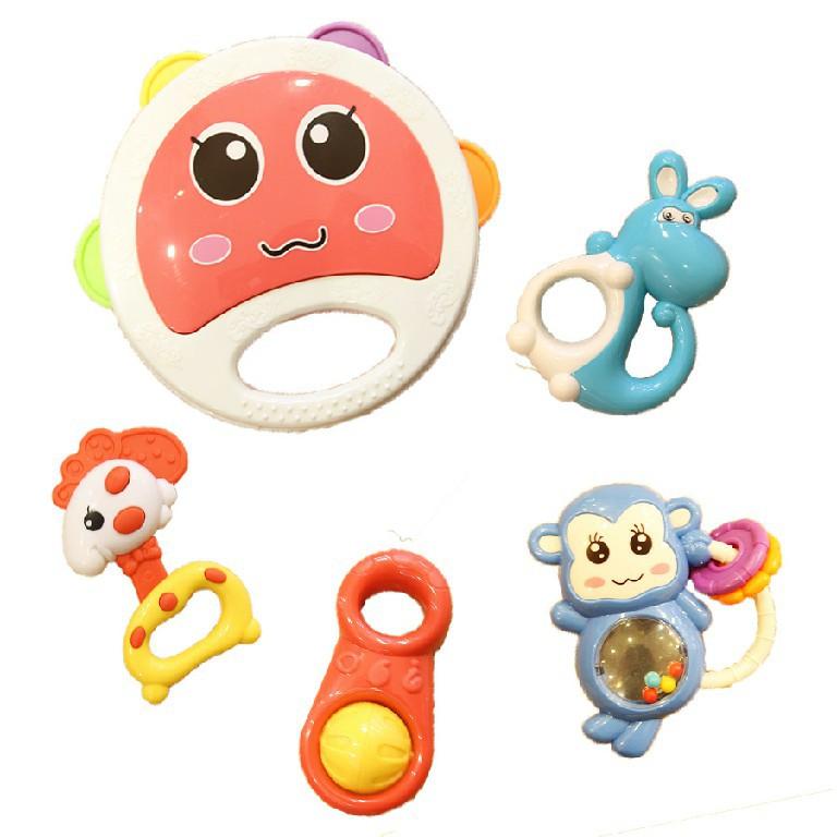Túi đồ chơi xúc xắc lục lạc cho bé sơ sinh Toys House 776-1 - giúp bé phát triển thị giác - đồ chơi tiêu chuẩn Mỹ