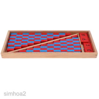 Wooden Montessori Red & Blue Rods Learning & Education Classic Kids Toys