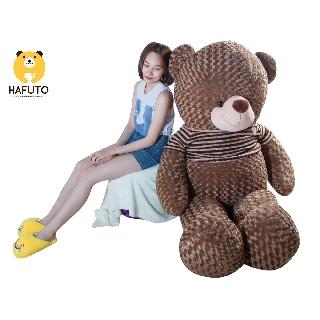 Gấu Teddy áo len HAFUTO khổ vải 2m