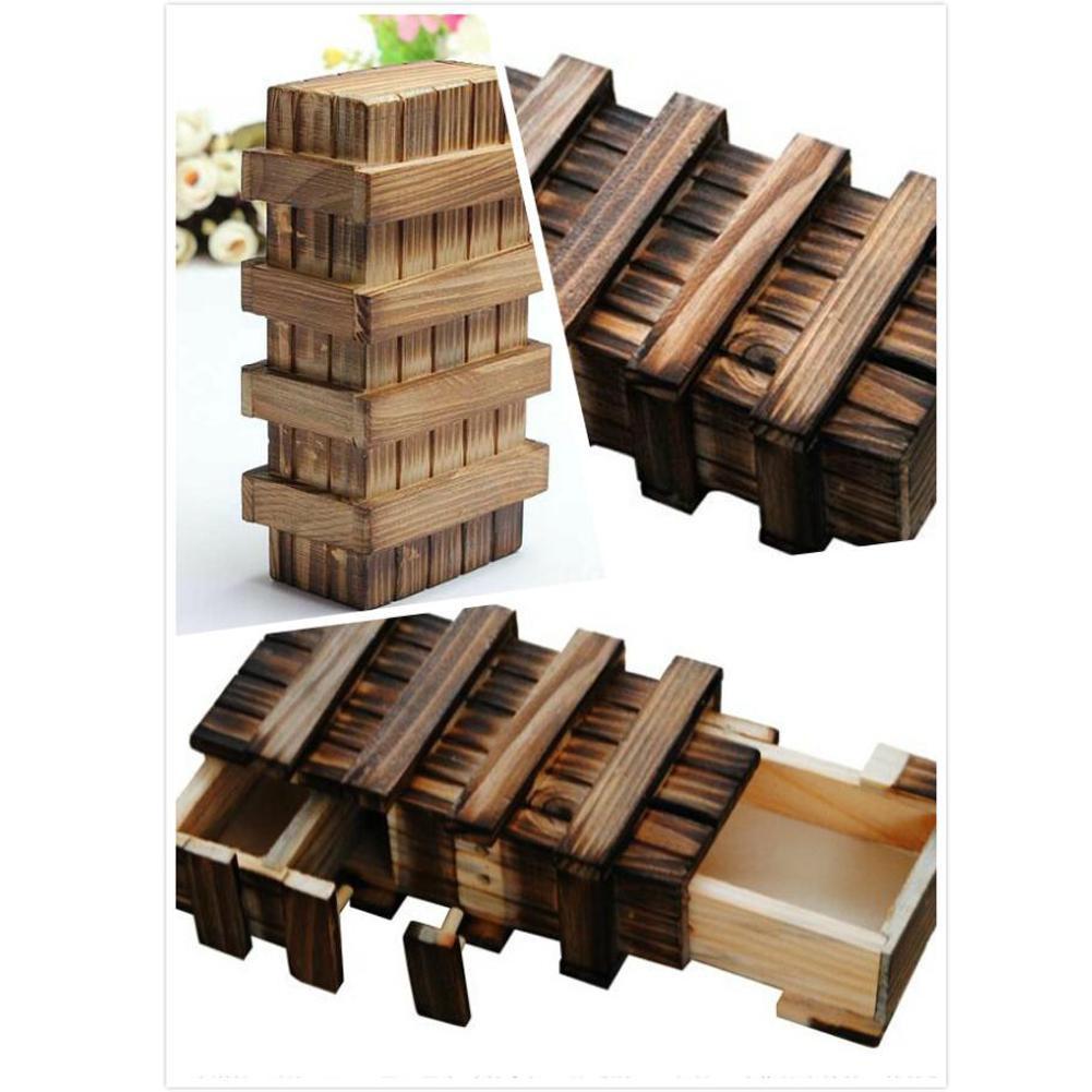 Đồ chơi giải đố bằng gỗ có ngăn bí ẩn độc đáo
