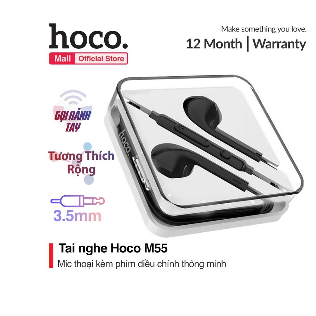 Tai nghe nhét tai Hoco M55 phím điều chỉnh âm lượng kèm mic thoại Jack 3.5mm dành cho Smart phone - Table