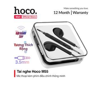 Tai nghe nhét tai Hoco M55 phím điều chỉnh âm lượng kèm mic thoại Jack 3.5mm dành cho Smart phone - Table thumbnail