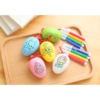 combo 5 trứng tô màu cho bé (quà 1.6 QT thiếu nhi , udon shop)