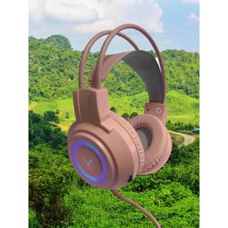 [Mã ELFLASH5 giảm 20K đơn 50K] Tai nghe chuyên game G60 màu hồng chất lượng cao Cổng kết nối USB +3.5