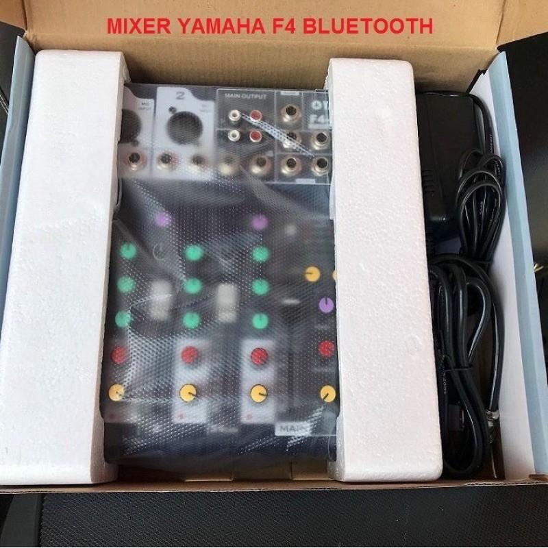 Mixer Yamaha F7-MB ⚡FREESHIP⚡ Livestream Karaoke Có Bluetooth Và Mixer F4 USB Bluetooth - Tặng Giắc 6,5 ra 3.5