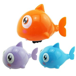 Bettertogether:Mini Animal Plastic Children Gift Baby Fishes Wind-Up Spring Toy