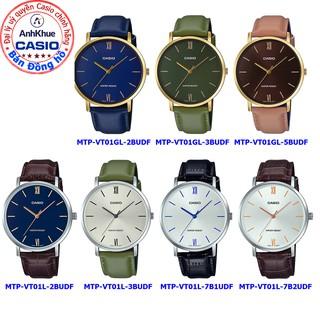Đồng hồ nam Casio MTP-VT01 MTP-VT01L MTP-VT01GL chính hãng Anh Khuê bảo hành 1 năm dây da mặt tròn sang trọng thumbnail