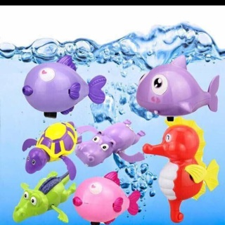 Đồ chơi bé đi tắm thú biết bơi combo6