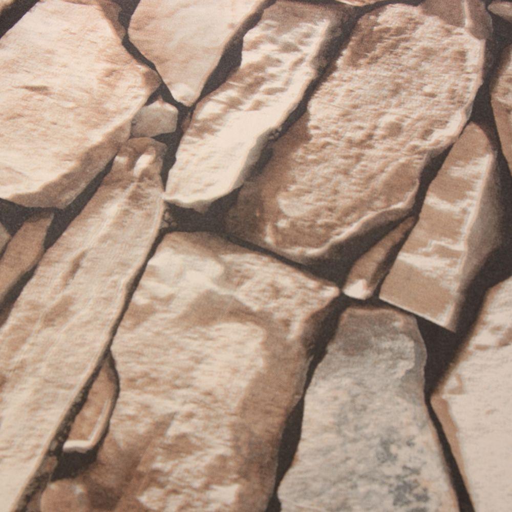 Sticker dán tường họa tiết 3D hình viên đá dùng trong trang trí phòng khách phòn